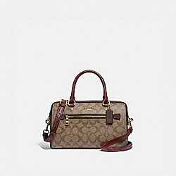 COACH F89005 - ROWAN SATCHEL IN SIGNATURE CANVAS IM/KHAKI MULTI