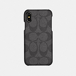 COACH F89009 - IPHONE X/XS CASE IN SIGNATURE CANVAS GREY