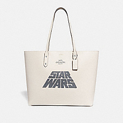 COACH F89036 Star Wars X Coach Town Tote With Glitter Motif SV/CHALK MULTI RASPBERRY