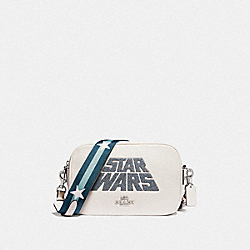 COACH F89037 Star Wars X Coach Jes Crossbody With Glitter Motif SV/CHALK MULTI