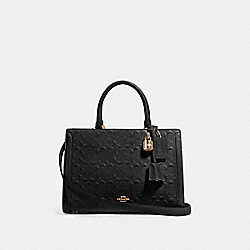 ZOE CARRYALL IN SIGNATURE LEATHER - F89039 - IM/BLACK