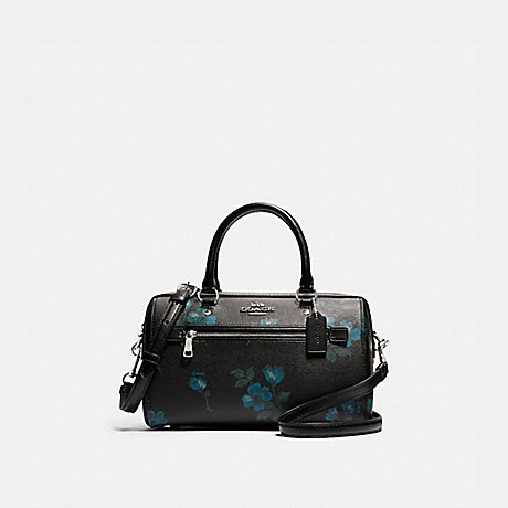 COACH F89154 ROWAN SATCHEL WITH VICTORIAN FLORAL PRINT SV/BLUE-BLACK-MULTI