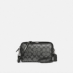 BENNETT CROSSBODY IN SIGNATURE CANVAS - F89202 - SV/GUNMETAL
