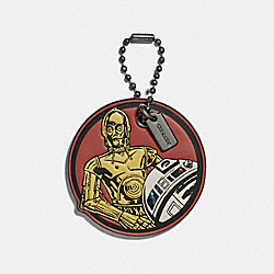 COACH F89371 - STAR WARS X COACH C-3PO AND R2-D2 HANGTAG MULTICOLOR