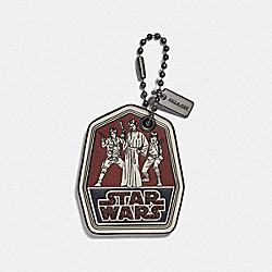 COACH F89372 - STAR WARS X COACH TRIO HANGTAG WINE/BLACK