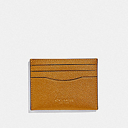 COACH F89709 Slim Card Case AMBER