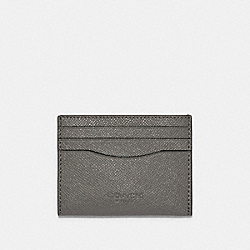 COACH F89709 Slim Card Case HEATHER GREY