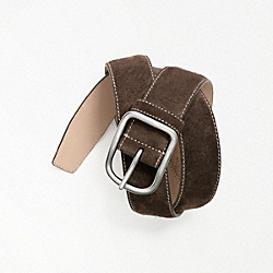 COACH F90087 - SUEDE BELT ONE-COLOR