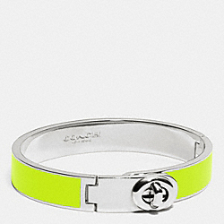 COACH F90325 - C.O.A.C.H. ENAMEL TURNLOCK HINGED BANGLE SILVER/GLO LLIGHT GOLDE