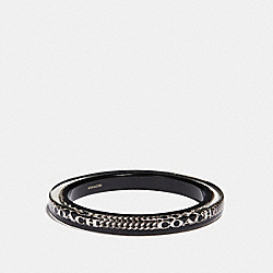 RESIN COACH CURBCHAIN BANGLE - f90330 - SILVER/BLACK