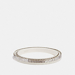 RESIN COACH CURBCHAIN BANGLE - f90330 - SILVER/CHALK