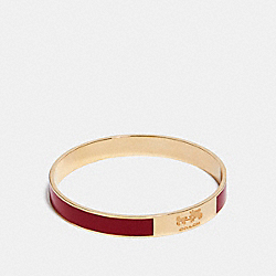 COACH F90334 - COACH PLAQUE ENAMEL BANGLE LIGHT GOLD/RED CURRANT