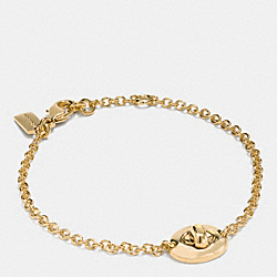 COACH F90335 Turnlock Bracelet GOLD