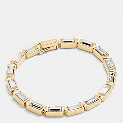 COACH F90358 Single Row Hangtag Bracelet GOLD/CLEAR