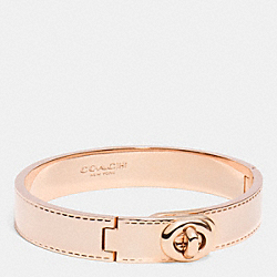 COACH F90368 Coach Metal Turnlock Hinged Bangle ROSEGOLD