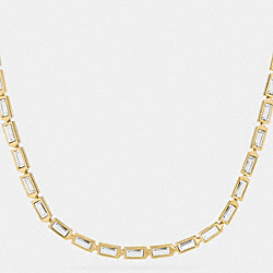 COACH F90372 Single Row Hangtag Necklace GOLD/CLEAR
