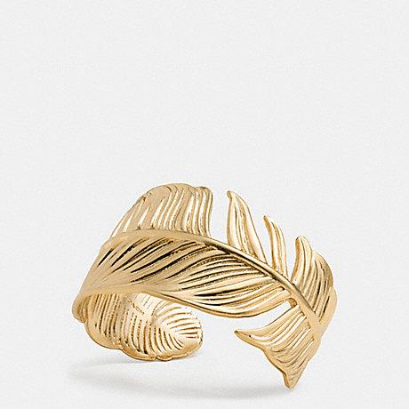 COACH F90429 FEATHER CUFF GOLD