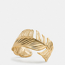 FEATHER CUFF - f90429 - GOLD