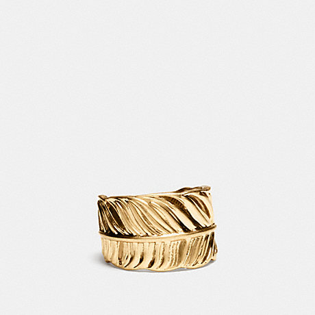 COACH FEATHER RING - BRASS - f90430