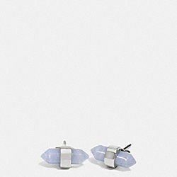 COACH F90478 - AMULET STUD EARRINGS SILVER/PALE BLUE