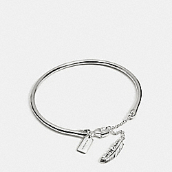 STERLING FEATHER BRACELET - f90480 - SILVER/SILVER