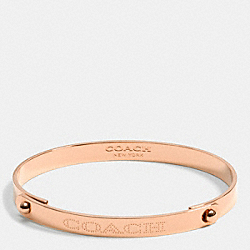 COACH F90486 - COACH METAL PLAQUE TENSION BANGLE  ROSEGOLD