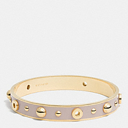 COACH F90512 - ENAMEL GROMMETS AND RIVETS BANGLE GOLD/GREY BIRCH