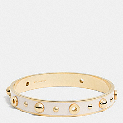 COACH F90512 Enamel Grommets And Rivets Bangle GOLD/CHALK