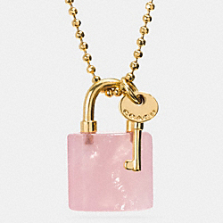 COACH F90513 Lock And Key Necklace GDPIT