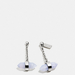 COACH F90556 Amulet Drop Earrings SILVER/PALE BLUE