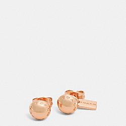 COACH RIVET STUD EARRINGS - ROSEGOLD - COACH F90558