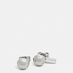 COACH F90558 - COACH RIVET STUD EARRINGS  SILVER