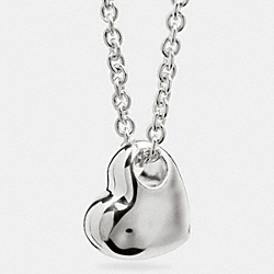 COACH F90566 Sterling Sculpted Heart Necklace SILVER/SILVER