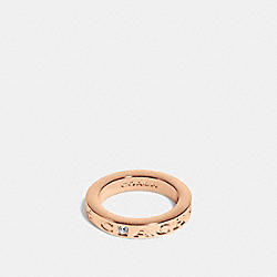 COACH PAVE METAL RING - f90600 - ROSEGOLD