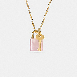 COACH F90615 Lock And Key Necklace GDPIT
