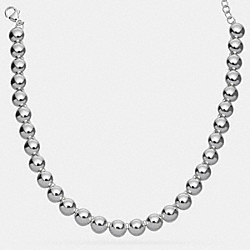 STERLING SILVER RIVET NECKLACE - f90647 - SILVER/SILVER