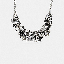 COACH F90690 - PAVE CLUSTERED METAL STARS NECKLACE SILVER/MULTI