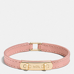 LEATHER SWAGGER BRACELET - f90702 - GOLD/BLUSH