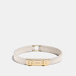LEATHER SWAGGER BRACELET - f90702 - GOLD/CHALK