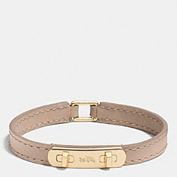 LEATHER SWAGGER BRACELET - f90702 - GOLD/STONE
