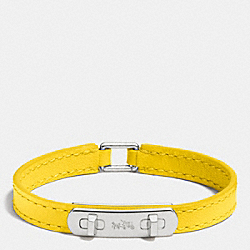 COACH F90702 Leather Swagger Bracelet SILVER/BANANA