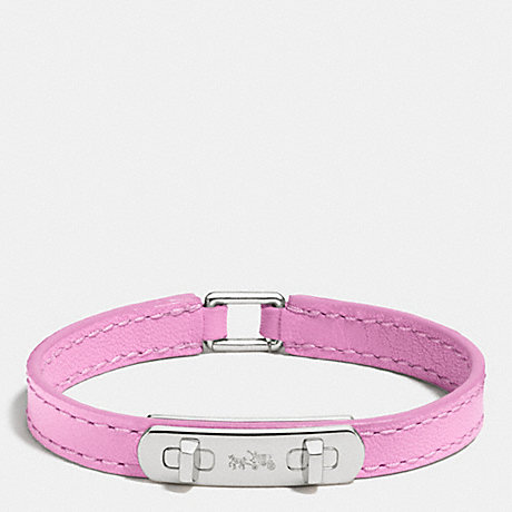 COACH LEATHER SWAGGER BRACELET - SILVER/MARSHMALLOW 2 - f90702