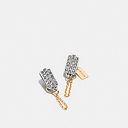 COACH F90758 Pave Tag Earring MULTICOLOR