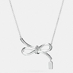 COACH F90795 Sterling Bow Necklace SILVER/SILVER