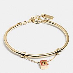 COACH F90808 Varsity C Bracelet CM/CRANBERRY
