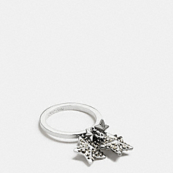 PAVE METAL STARS RING - f90840 - SILVER/MULTI