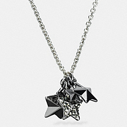 COACH F90842 - PAVE METAL STARS NECKLACE SILVER/MULTI