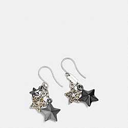 PAVE METAL STARS EARRINGS - f90843 - SILVER/MULTI