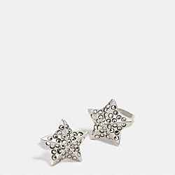 PAVE METAL STAR STUD EARRINGS - f90869 - SILVER/MULTI