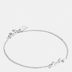 COACH F90897 Sterling Lucky Script Bracelet SILVER/SILVER